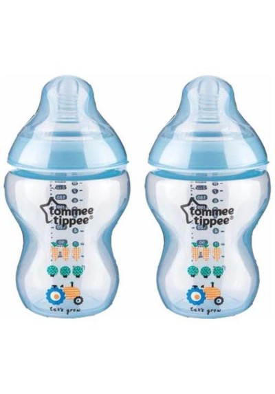 Tommee Tippee Closer To Nature (260ml/9oz) Tinted Bottle Design Twin Pack - 422583 Purple