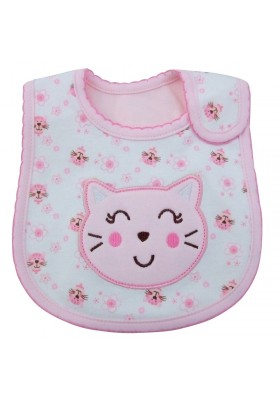 Carter's Bib - Pink Cat