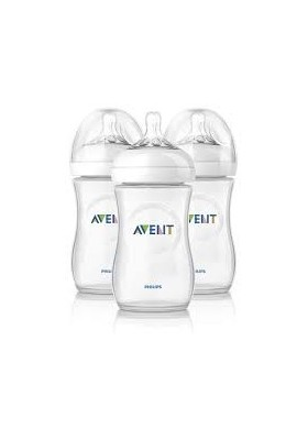 Philips AVENT Natural Range 260ml (9oz) x 3 Feeding Bottles