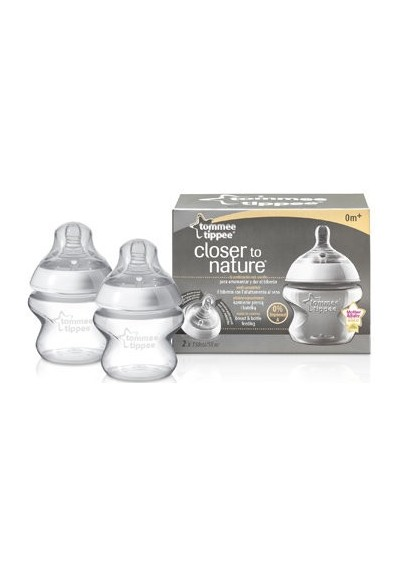 Tommee Tippee Closer To Nature BPA Free Bottles 150ml/5oz x 2