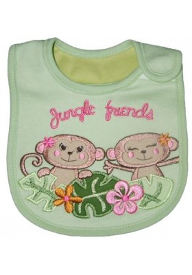 Carter's Bib - Monkey Jungle Friends