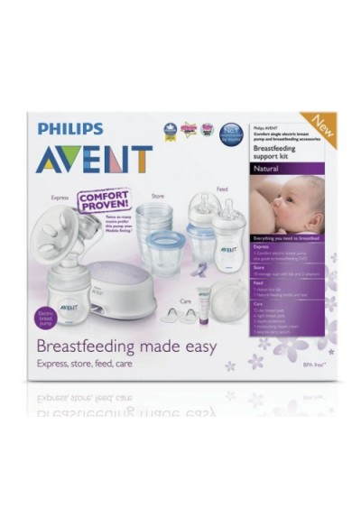 Philips AVENT Single Electric Breast Pump Promo Pack / Breastfeeding Support Kit