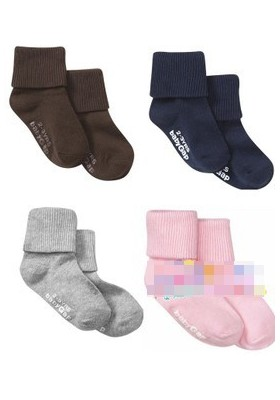 BabyGap Triple Roll Socks-Original-7 Colors 0-6m/6-12m/12-24m/2-3Y SN043