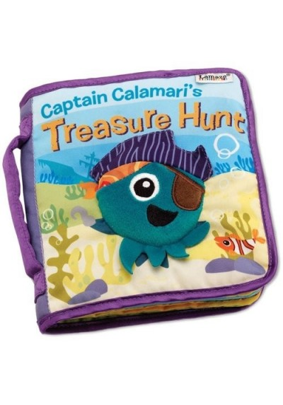 Lamaze Infant Baby Kids Captain Calamari's Hunt Cloth Book Developmental Toys