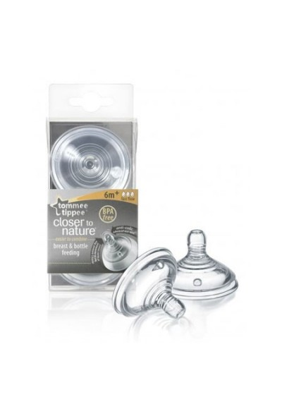 Tommee Tippee Closer To Nature Teats (Fast Flow) - Twin Pack