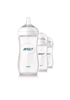 Philips AVENT 1/2/3 x 330ml 11oz BPA Free Natural PP Bottles