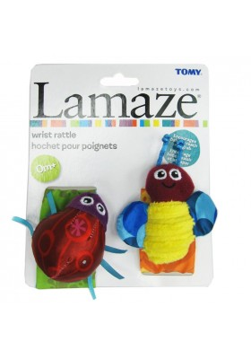 Lamaze Garden Bug Wrist Rattles Original Packing