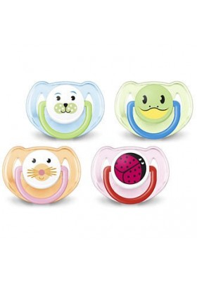 Philips AVENT BPA-Free Animal Soothers 6-18 Months Twin Pack New Design
