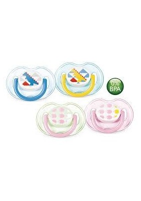 Avent Fashion Soothers 0-6 Months 2 Pack Dinosaur/Sheep