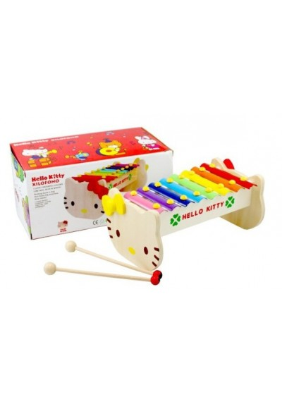 Hello Kitty Wooden Xylophone 8 Notes