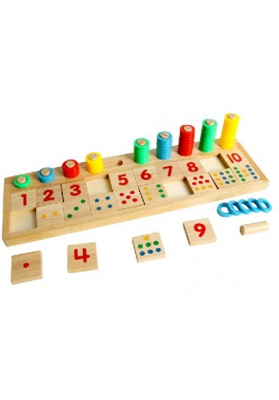 Educational Wooden Toys Teaching Logarithm Version Kids Early