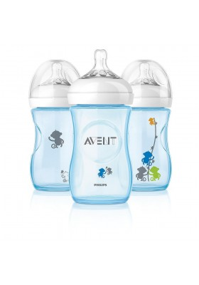 Philips AVENT Natural Range Special Edition 260ml 9oz x 1/2/3 Feeding Bottle with monkey Design Printing