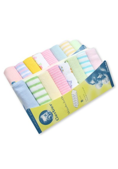 Gerber Baby Washcloth Handkerchief - 8 pieces set (Assorted Design)