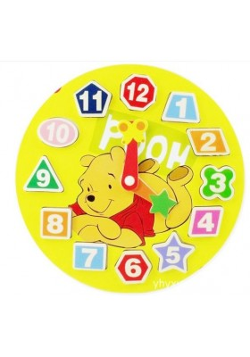 Wooden Educational Disney Characters Clock Games