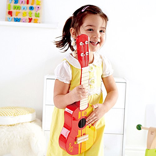 Hape Early Melodies Ukulele Red guitar