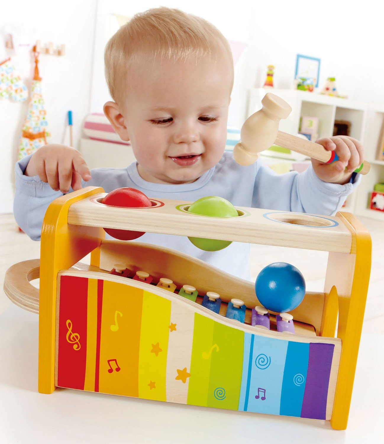 Hape - Pound & Tap Bench with Slide out Xylophone wooden toys