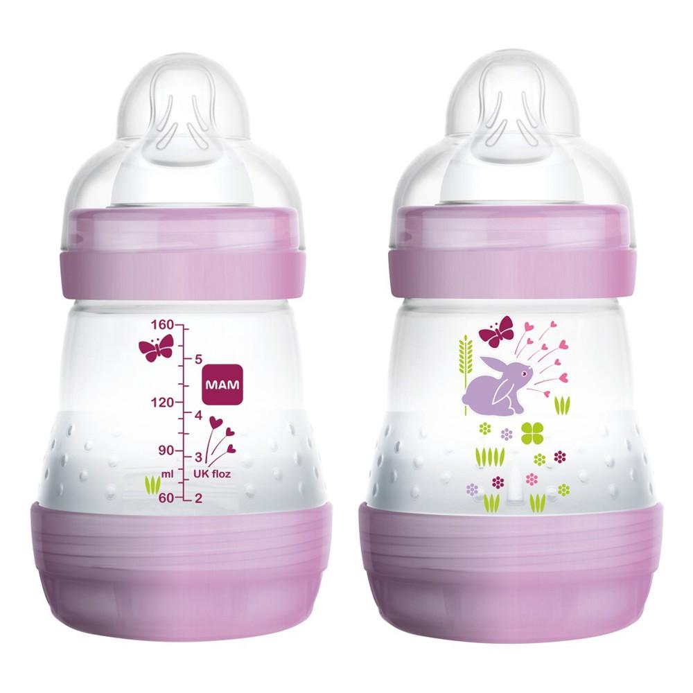 mam 160ml anti colic bottle both side different design printing