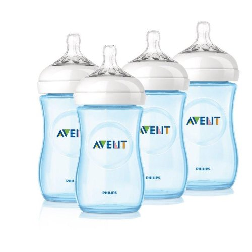 avent natural bottle special edition blue pink