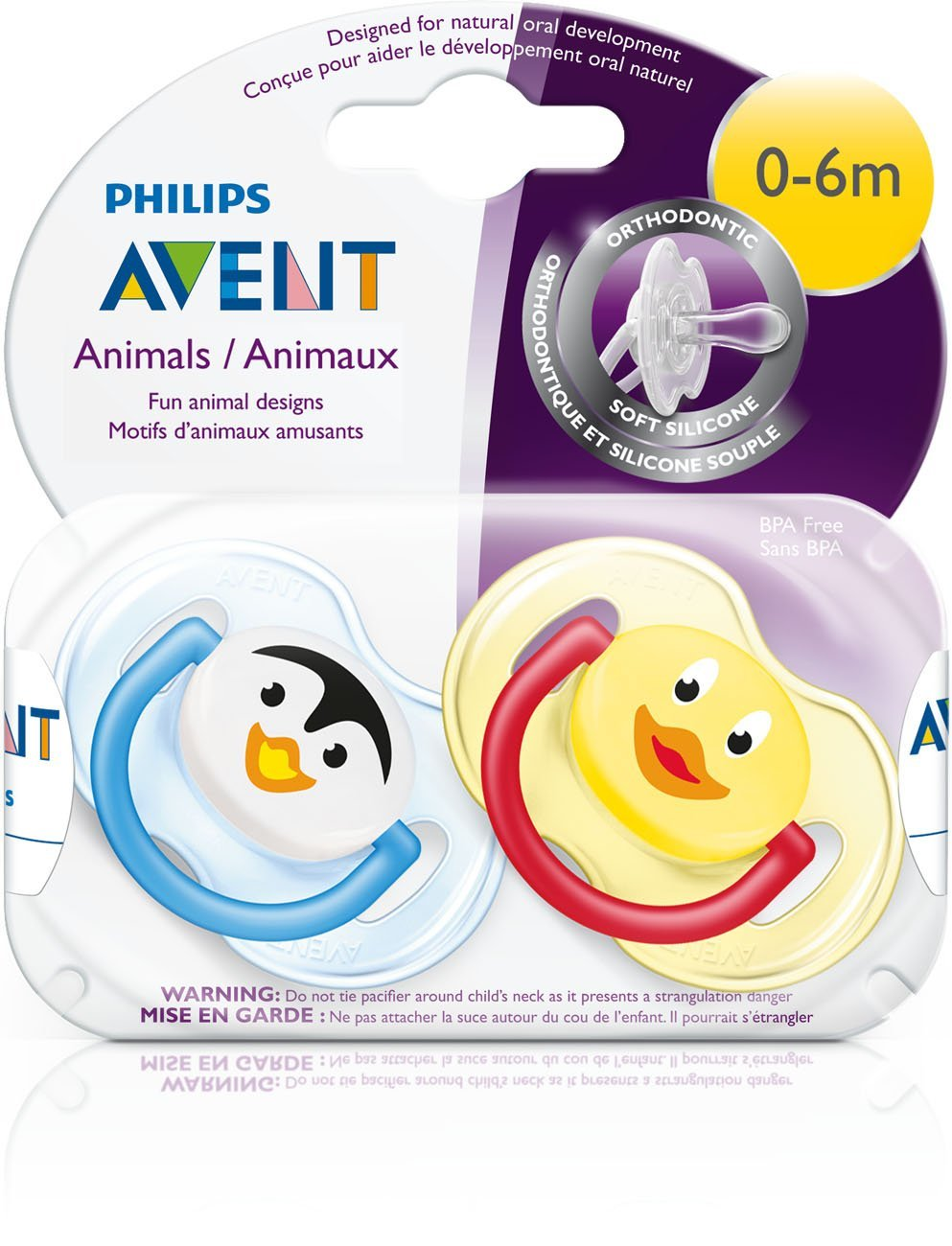 Philips AVENT BPA-Free Animal Soothers 0-6 Months Twin Pack