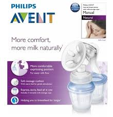 avent natural manual breast pump with Milk Storage Via Cups
