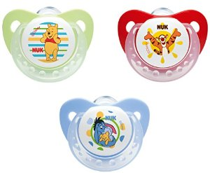 NUK Winnie the Pooh Size 2 Silicone Soother - 2 pack (6-18 months)