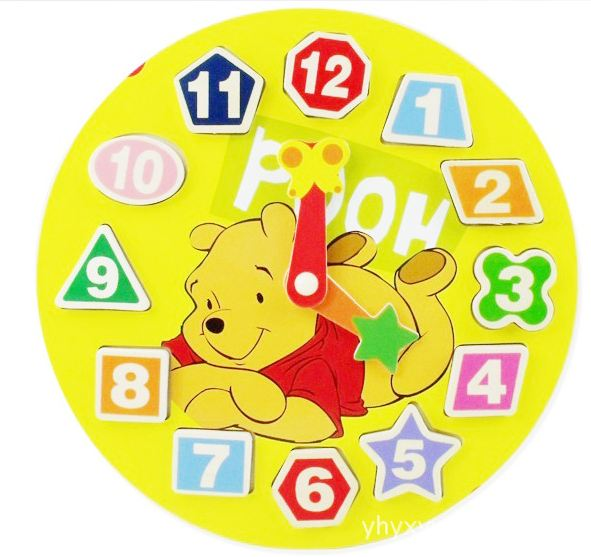 wooden education disney characters clock toys