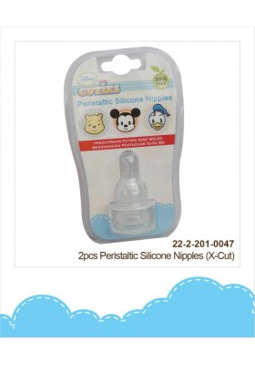 DIsney Cuties Peristaltic Silicone Nipples X-cut 2pcs