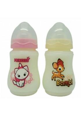 Disney Cuties 9oz Wide Neck Bottles - 2 bottles
